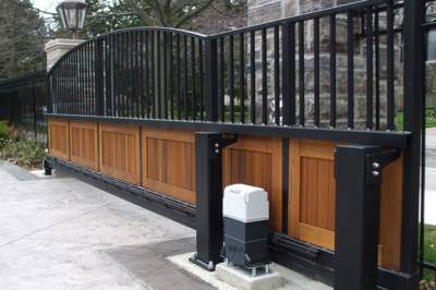 aluminum wood slide gate