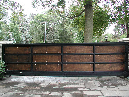 riverview wood metal slide gate