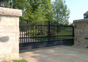 Caledon Slide Gate in Masonry Columns