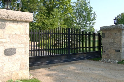 Caledon Slide Gate in Masonry Columns