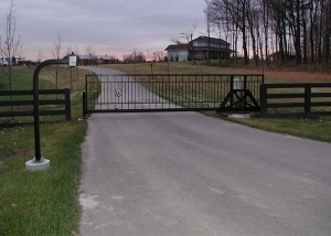 stand alone slide gate for estate farm
