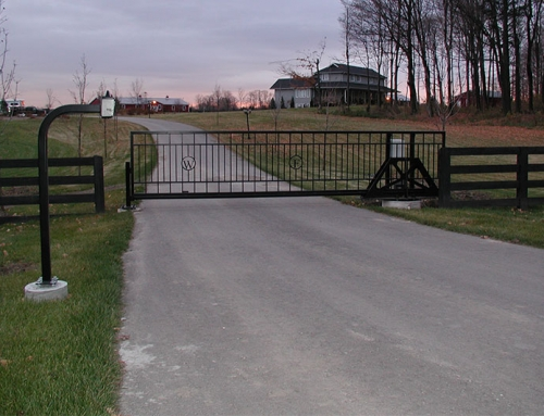 Slide Gate for Estate Farm