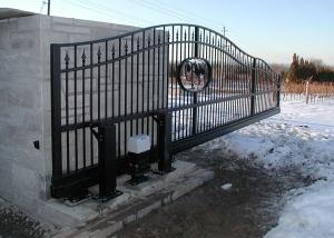 Heron Pond bi-parting slide gate