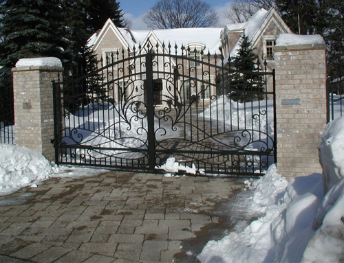 Swing Gate w/Scrollwork and Columns